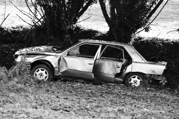 An Image Showing the Damaged Body of a Car